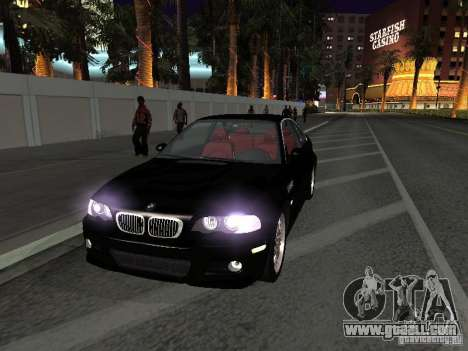 BMW M3 GT-R Stock for GTA San Andreas inner view