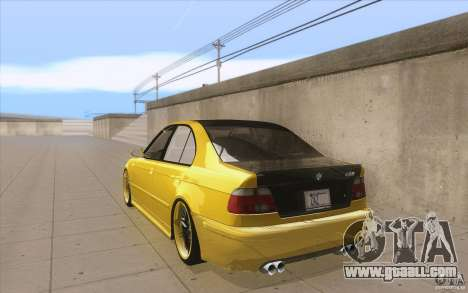 BMW M5 E39 - FnF4 for GTA San Andreas back left view