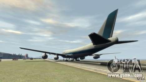 Boening 747-400 Kras Air for GTA 4 back left view