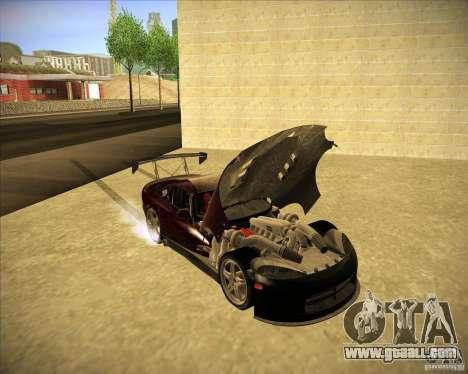 Dodge Viper TT for GTA San Andreas inner view