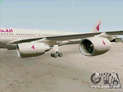 Airbus A-340-600 Quatar for GTA San Andreas back view