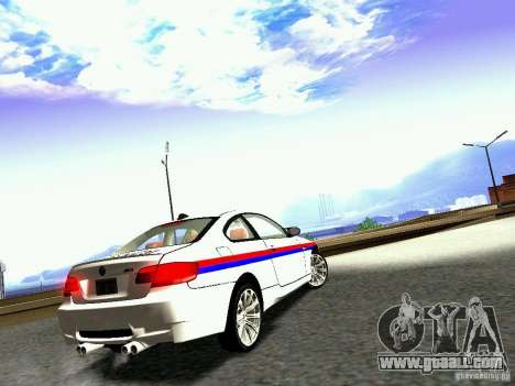 BMW M3 MotoGP SafetyCar for GTA San Andreas right view