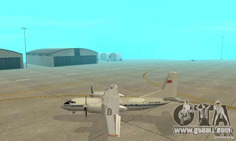 Antonov an-24 for GTA San Andreas left view