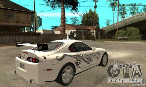 Toyota Supra NFSMW Tunable for GTA San Andreas inner view