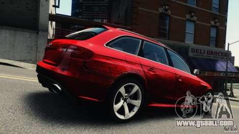 Audi RS4 Avant 2013 v2.0 for GTA 4 inner view