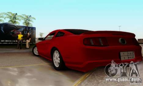 Ford Mustang 2010 for GTA San Andreas left view