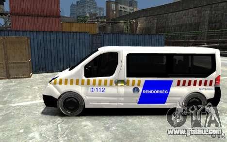 Opel Vivaro Hungarian Police Van for GTA 4 left view