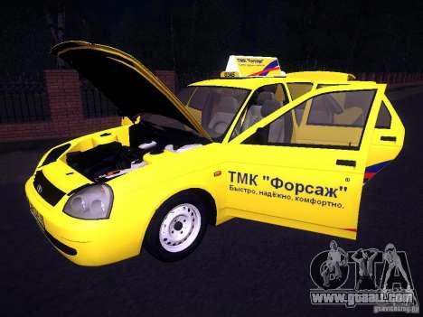LADA 2170 Priora Taxi TMK Afterburner for GTA San Andreas bottom view