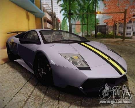 Lamborghini Murcielago LP 670/4 SV Fixed Version for GTA San Andreas back view