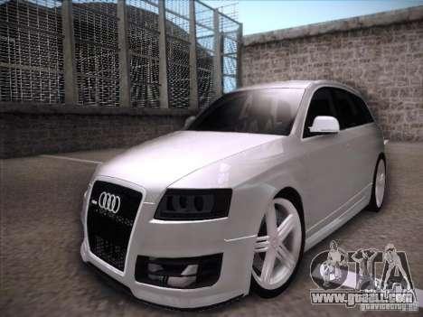 Audi RS6 Avant for GTA San Andreas