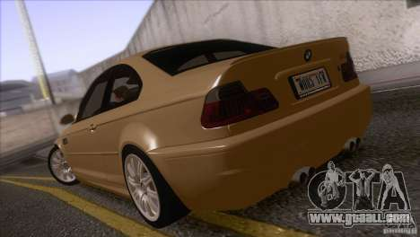 BMW M3 E48 for GTA San Andreas back left view