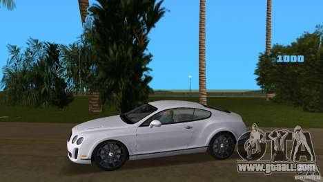 Bentley Continental Supersport for GTA Vice City left view