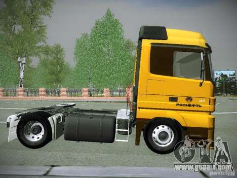 Mercedes-Benz Actros Rosneft for GTA San Andreas back left view