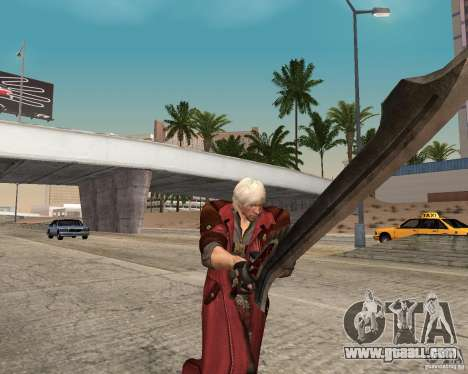 Nero sword from Devil May Cry 4 for GTA San Andreas second screenshot