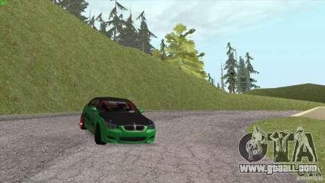 BMW M5 E60 Darius Balys for GTA San Andreas upper view