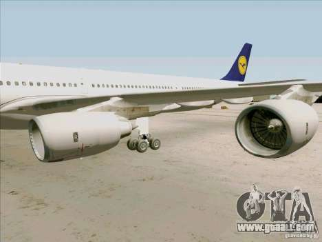 Airbus A-340-600 Lufthansa for GTA San Andreas back view