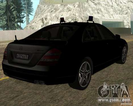 Mercedes-Benz S65 AMG W221 for GTA San Andreas back left view