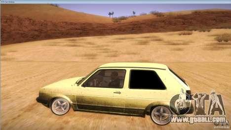 Volkswagen Golf MK II for GTA San Andreas inner view