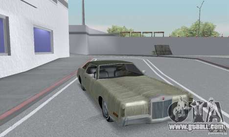 Lincoln Continental Mark IV 1972 for GTA San Andreas upper view