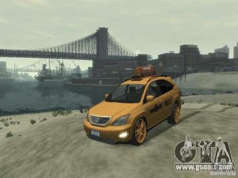 Lexus RX400 New York Taxi for GTA 4