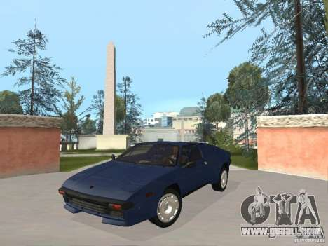Lamborghini Jalpa P350 1984 v1.1 for GTA San Andreas