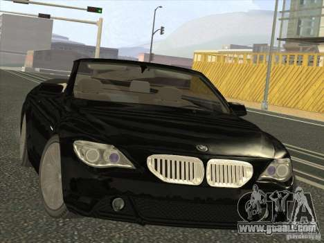 BMW 650I for GTA San Andreas back view