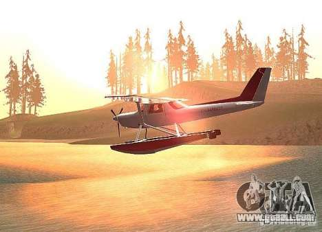 Cessna 152 water option for GTA San Andreas left view