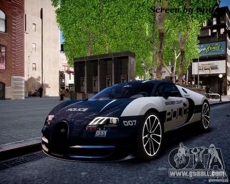 Bugatti Veryon SS COP for GTA 4 inner view