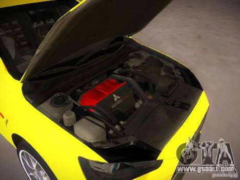 Mitsubishi Lancer Evo X Tunable for GTA San Andreas back view