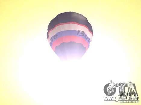 Balloon Vityaz for GTA San Andreas back view