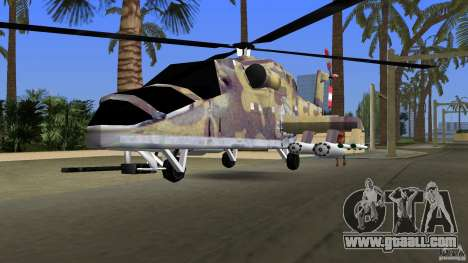 Mi-24 HindB for GTA Vice City back view