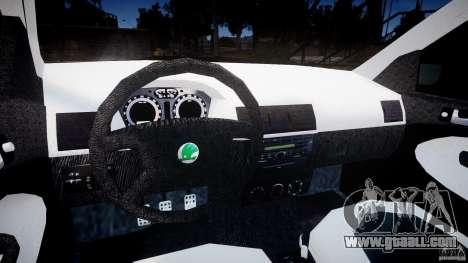 Skoda Fabia v1.0 for GTA 4 back view