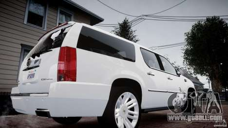 Cadillac Escalade ESV for GTA 4 back left view