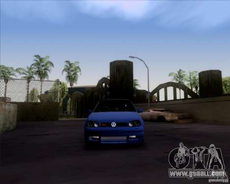 Volkswagen Golf GTi 2003 for GTA San Andreas back left view