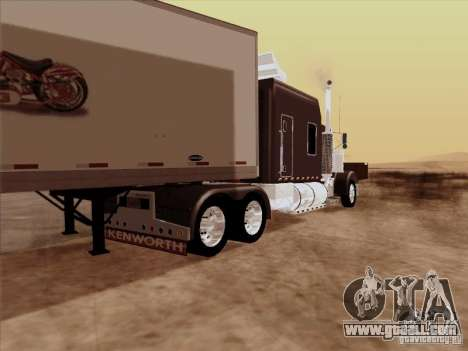 Kenworth W900 Long for GTA San Andreas right view