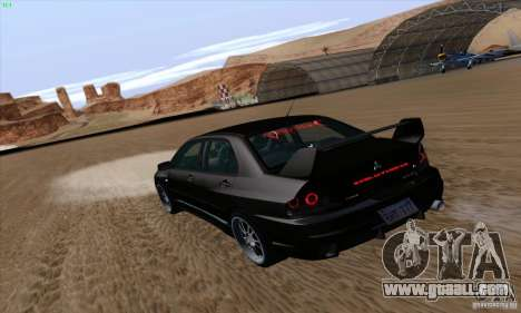 Mitsubishi Lancer EVO VIII BlackDevil for GTA San Andreas left view