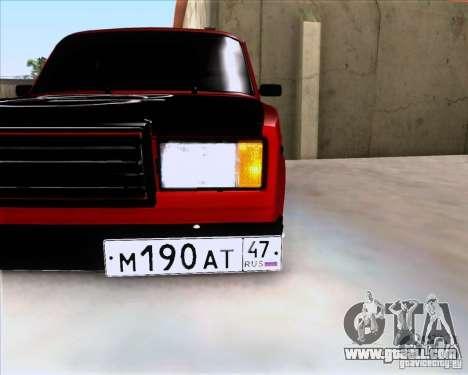 VAZ 2107 Gangsta for GTA San Andreas