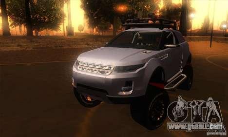 Land Rover Evoque for GTA San Andreas