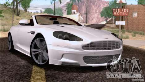 Aston Martin DBS Volante 2009 for GTA San Andreas back left view
