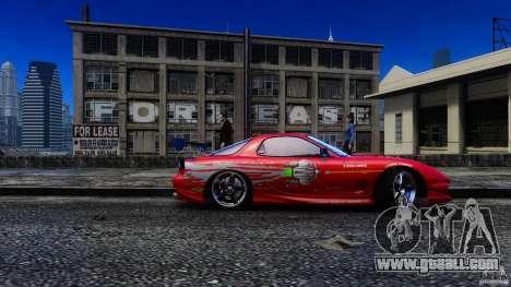 Mazda RX-7 FnF for GTA 4 back left view