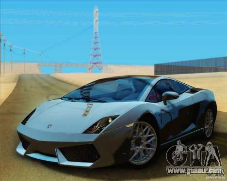 Lamborghini Gallardo LP560-4 for GTA San Andreas back left view