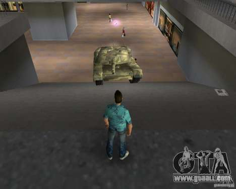 Camo tank for GTA San Andreas back view