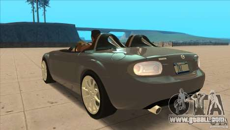 Mazda MX5 Miata Superlight 2009 V1.0 for GTA San Andreas back left view