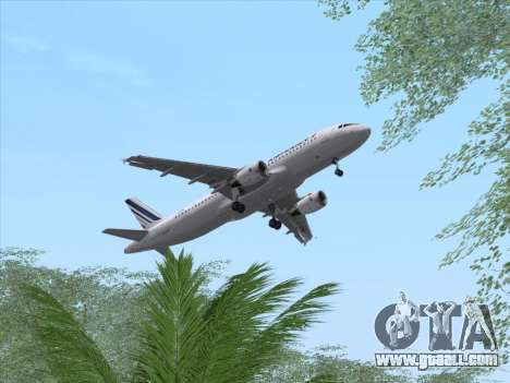 Airbus A320-211 Air France for GTA San Andreas side view