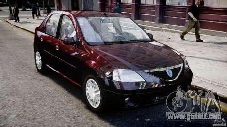 Dacia Logan 2007 Prestige 1.6 for GTA 4 side view