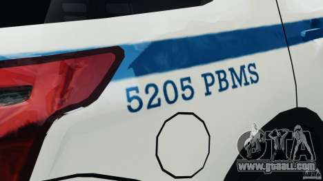 Ford Explorer NYPD ESU 2013 [ELS] for GTA 4
