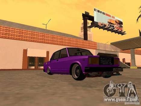 VAZ 2107 JDM for GTA San Andreas back view