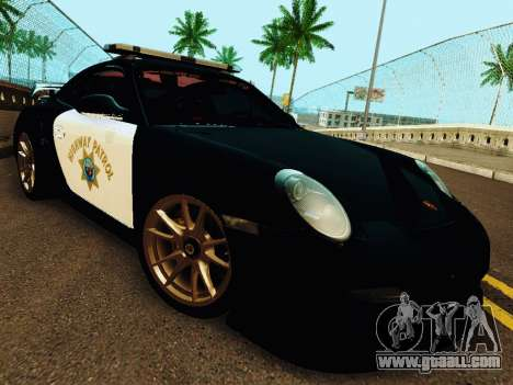 Porsche 911 GT2 RS (997) Police for GTA San Andreas left view