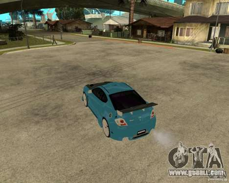 Hyundai Tibuton V6 GT for GTA San Andreas back left view