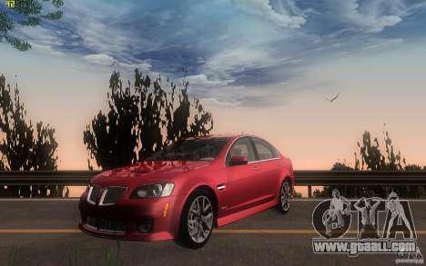 Pontiac G8 GXP 2009 for GTA San Andreas left view